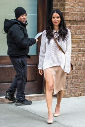 Olivia Munn Casual Style - Out in NYC 2/17/2016
