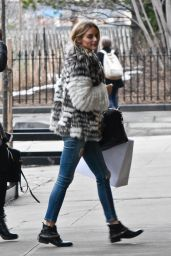 Olivia Palermo Casual Style - Out in NYC 2/1/2016