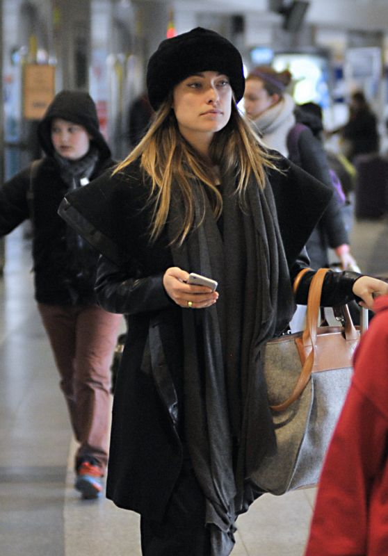 Olivia Wilde at JFK Airport in NYC, 2/13/2016