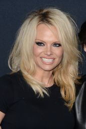 Pamela Anderson – Saint Laurent Show at The Palladium in Los Angeles 2/10/2016