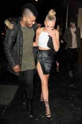 Perrie Edwards Night Out Style - Leaving Drama Nightclub in London, February 2016