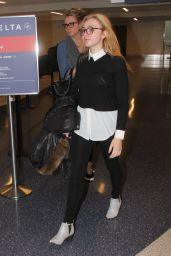 Peyton List - Departing LAX Airport in Los Angeles 2/23/2016