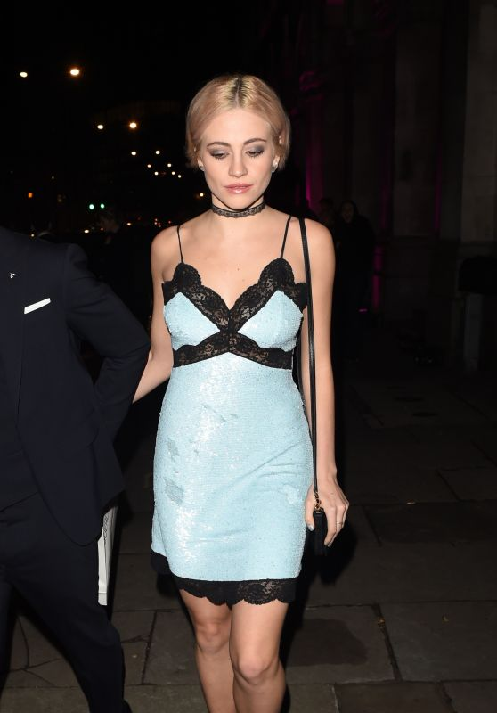Pixie Lott - Leaving a LFW Gala at Billingsgate Market in London 2/21/2016
