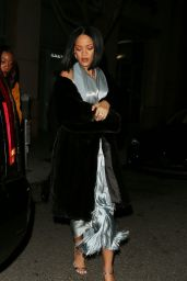 Rihanna Night Out Style - at The Via Alloro Restaurant in Los Angeles 2/21/2016