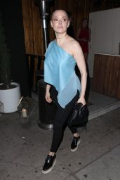Rose McGowan Night Out Style - at The Nice Guy in West Hollywood, February 2016