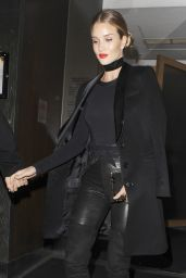 Rosie Huntington-Whiteley Night Out Style - Leaving Nobu Restaurant in London, January 2016