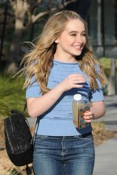 Sabrina Carpenter - Outside the Facebook Building in Los Angeles, 2/22/2016