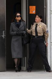 Salma Hayek - Set of 'Drunk Parents' at a Bronx Supreme Court, February 2016
