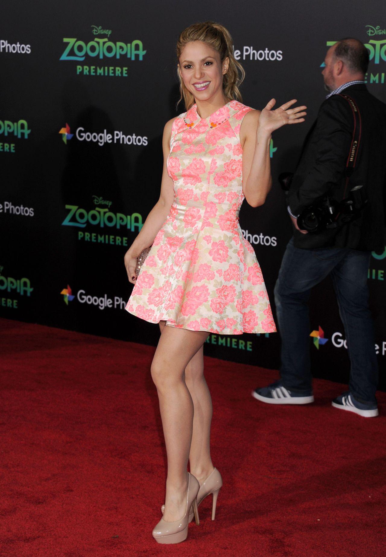 Shakira Zootopia Premiere In Hollywood Ca