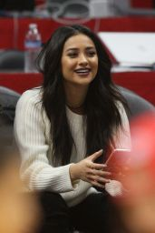 Shay Mitchell - Clippers Game at Staples Center in Los Angele 1/31/2016