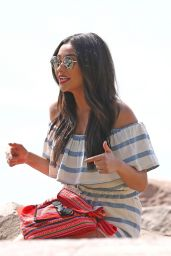 Shay Mitchell - Filming for Hawaiian Tropic Sunscreen Products at Miami Beach 2/21/2016