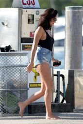 Shay Mitchell Hot in Jeans Shorts - at Yacht With Friends in Miami, FL 2/21/2016