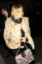 Sienna Miller - Launch of 100 Wardour St, January 2016