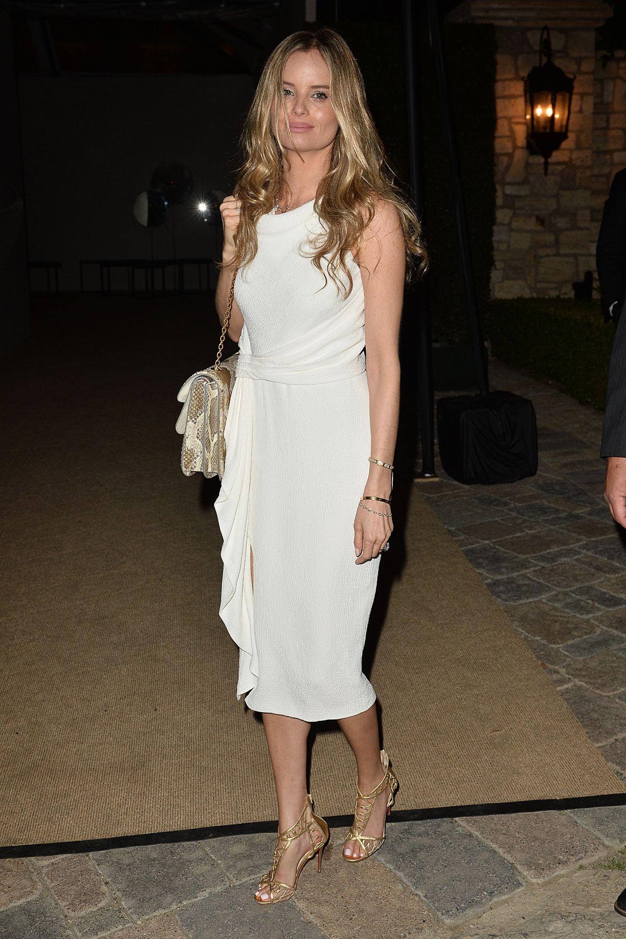 Simone Holtznagel - Leaves a Pre Oscar Talent Agency Party ...