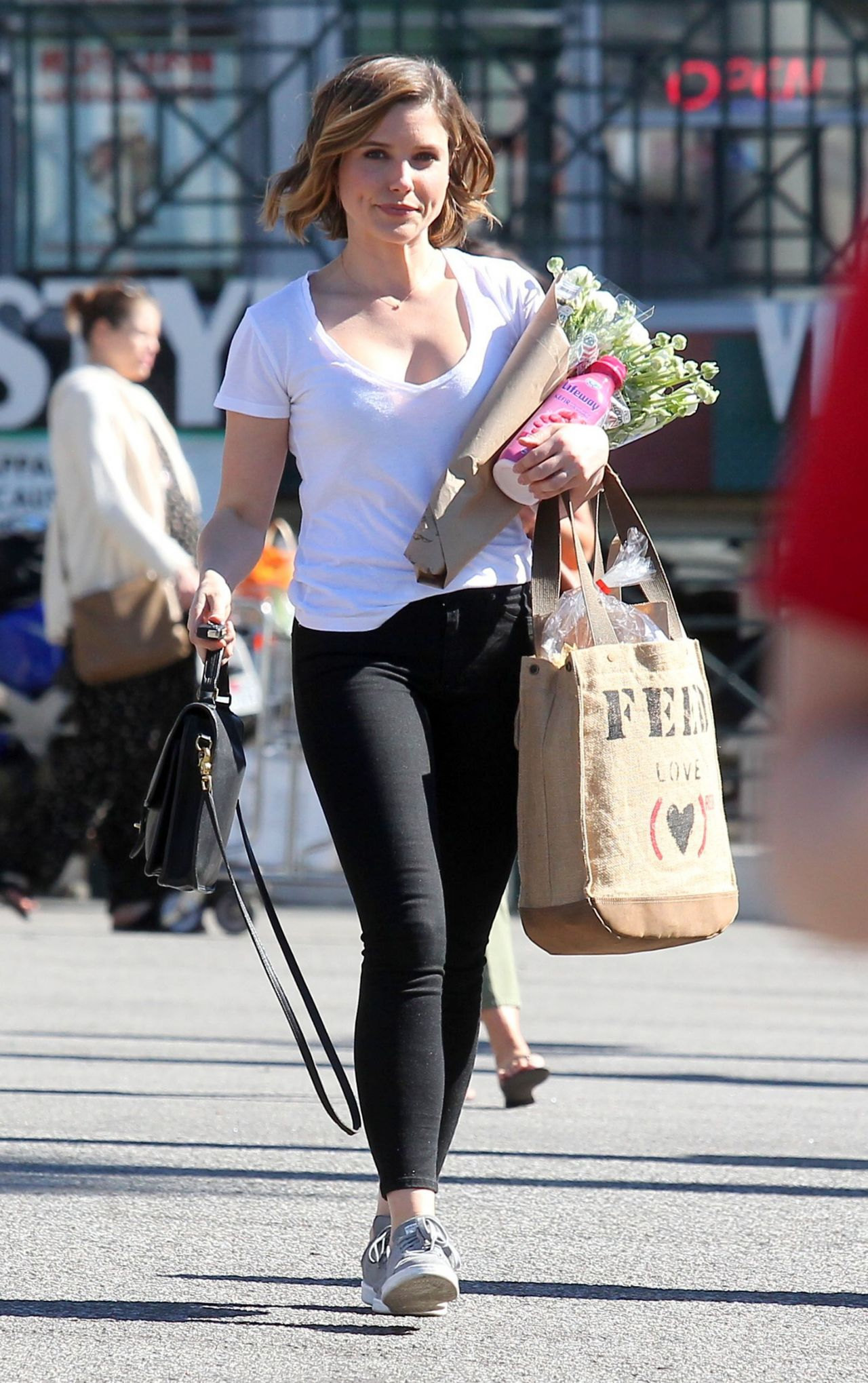 Sophia Bush Street Style Whole Foods In West Hollywood 2