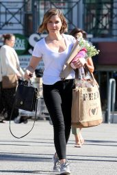Sophia Bush Street Style - Whole Foods in West Hollywood 2/9/2016