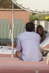 Sylvie Meis Lies by the Pool at Her Beverly Hills Hotel in Los Angeles, CA 2/26/2016