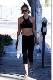 Tallulah Willis in Leggings - Leaving a Gym in Beverly Hills 2/9/2016