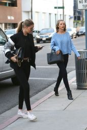 Taylor Swift and Gigi Hadid at Voila Nail Salon in Beverly Hills 2/5/2016