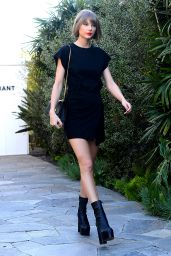 Taylor Swift in Mini Dress - Shopping in West Hollywood 2/24/2016