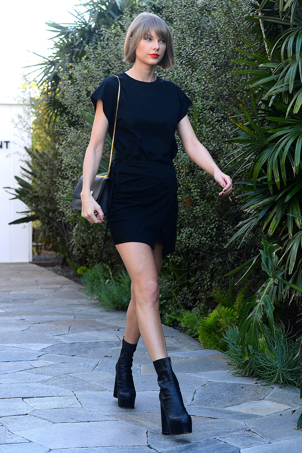Taylor Swift In Mini Dress Shopping In West Hollywood 2