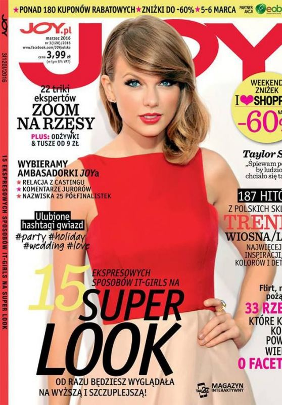 Taylor Swift - Joy Magazine March 2016 Cover