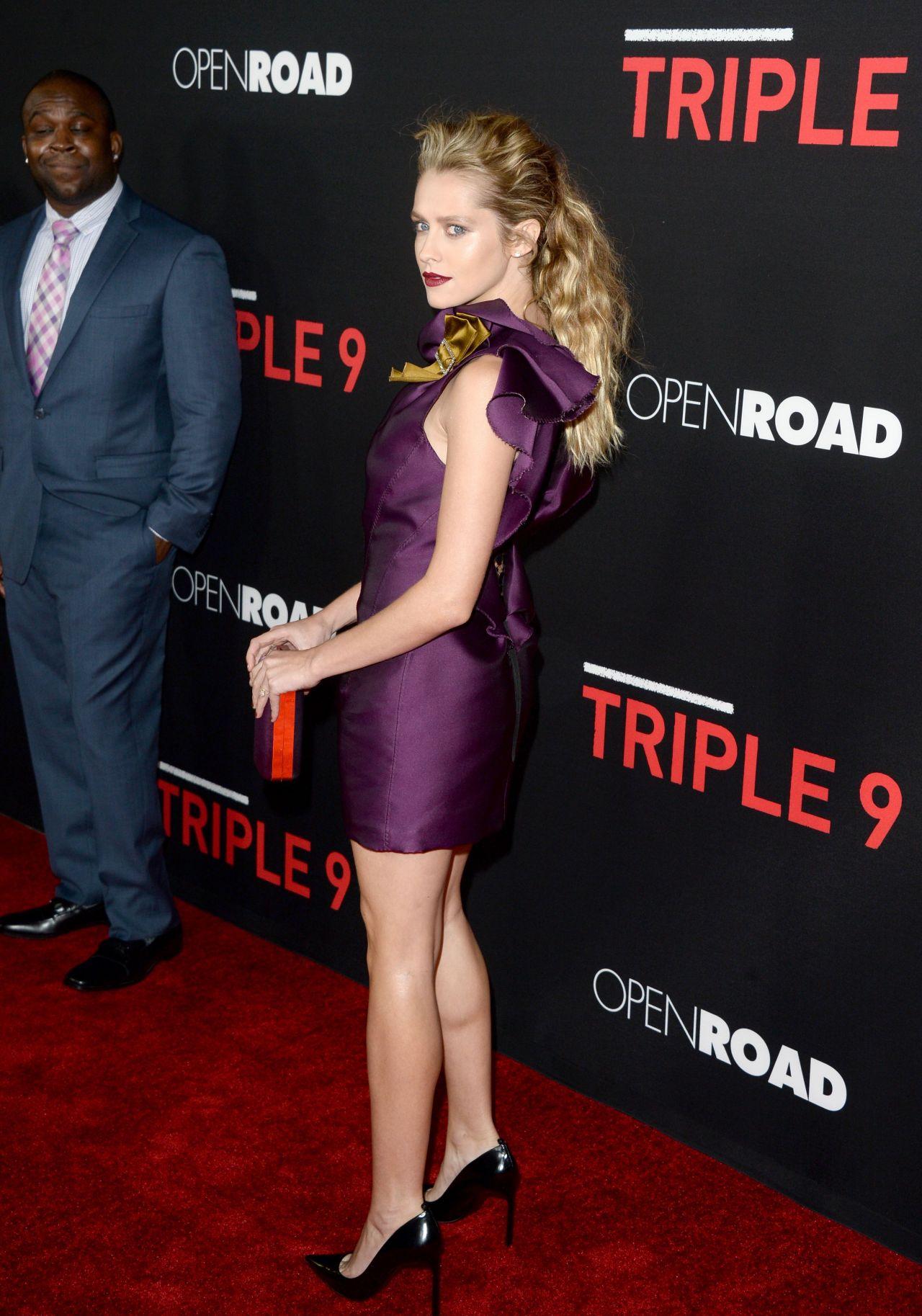 Teresa Palmer Triple 9 Premiere In Los Angeles