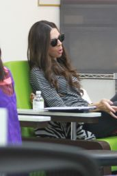 Terri Seymour - Gets a Pedicure and Manicure at a Nail Salon in Beverly Hills 1/30/2016