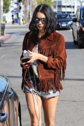 Vanessa Hudgens Leggy in Jeans Shorts - Out in Studio City 2/10/2016