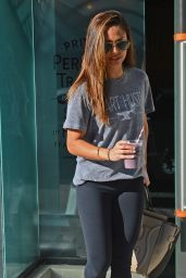 Vanessa Lachey in Leggings - Leaving a Gym in West Hollywood, February 2016