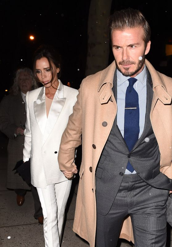 Victoria and David Beckham Night Out Style - NYC 2/8/2016