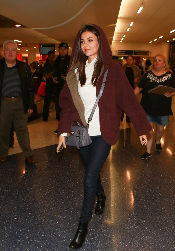 Victoria Justice Airport Style - LAX in Los Angeles, CA 2/4/2016