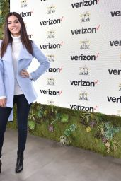 Victoria Justice - Game Winner Experience at Verizon Access Zone in San Francisco, CA 2/4/2016