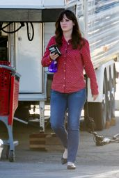 Zooey Deschanel - On the Set of New Girl in Los Angeles, 2/11/2016