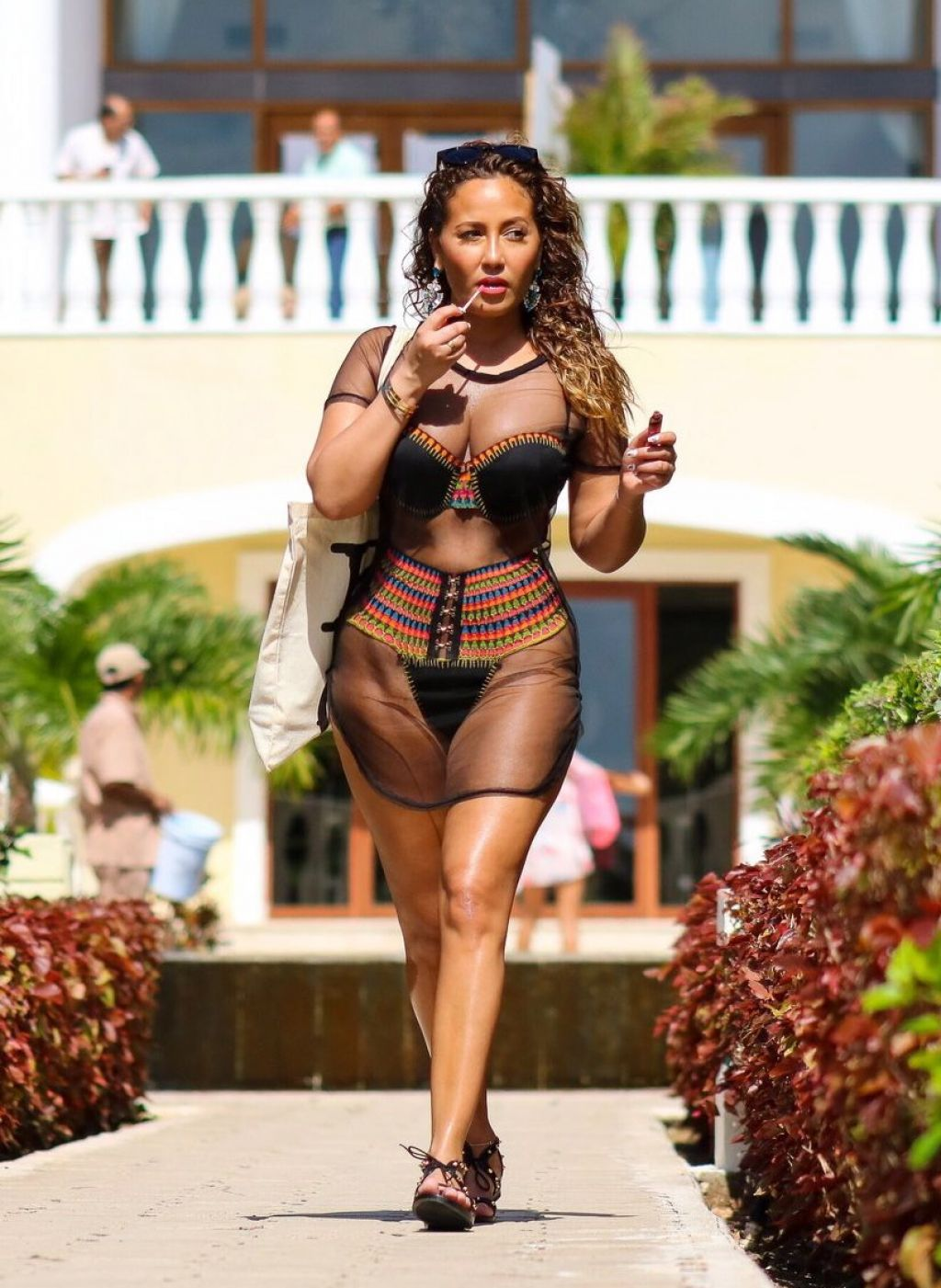 Adrienne Bailon Hot In Bikini Mexico 3 20 2016