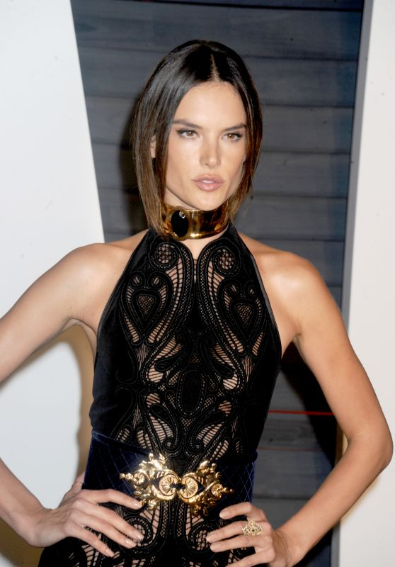 Alessandra Ambrosio – 2016 Vanity Fair Oscar Party in Beverly Hills, CA