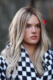 Alessandra Ambrosio Blond Hair - Paris, March 2016