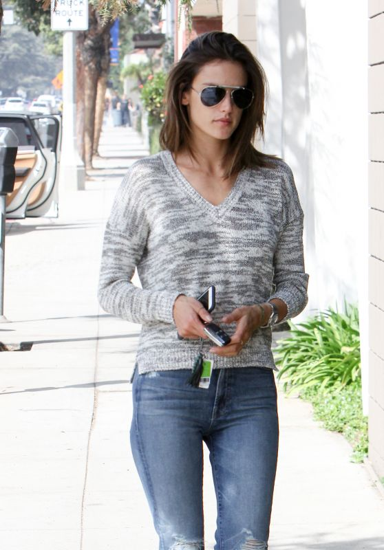 Alessandra Ambrosio Casual Style - Out in Los Angeles 2/29/2016