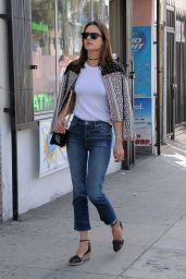 Alessandra Ambrosio Casual Style - Out in Los Angles, CA 3/19/2016