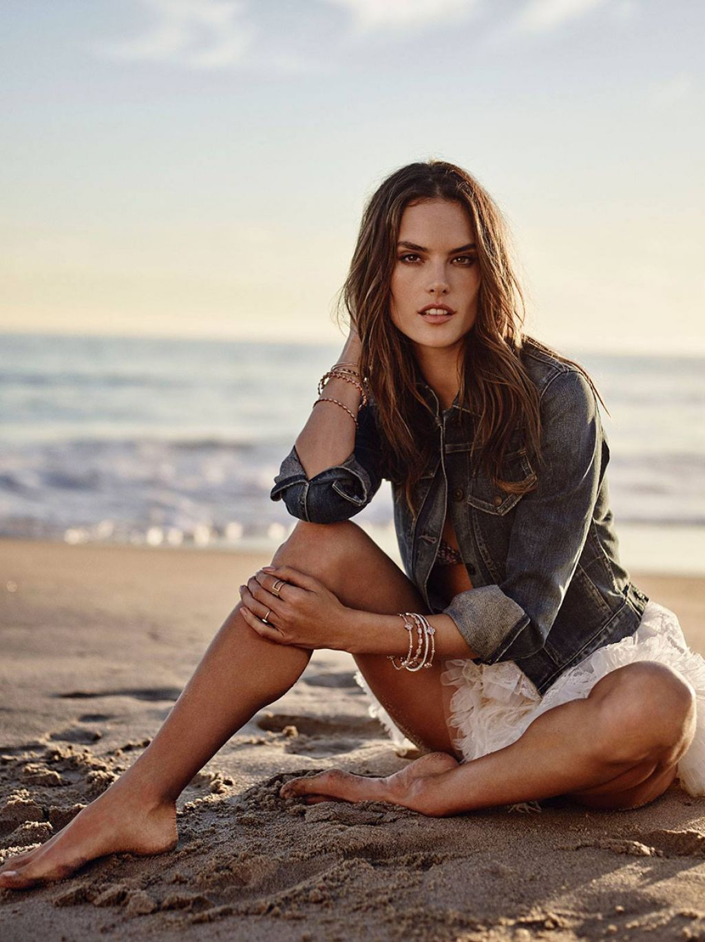 Alessandra Ambrosio Shows Off Her Bikini Body - Malibu, CA