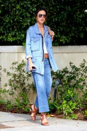 Alessandra Ambrosio Flared Jeans Outfit - Out in Brentwood 3/29/2016