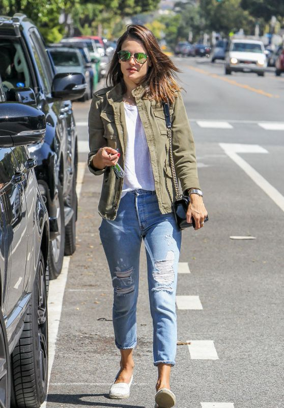 Alessandra Ambrosio in Jeans -  Shopping in LA 3/15/2016