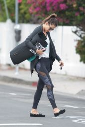 Alessandra Ambrosio in Spandex - Leaving a Yoga Class in Los Angeles 3/28/2016