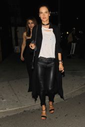 Alessandra Ambrosio Night Out Style - The Nice Guy in West Hollywood 3/26/2016