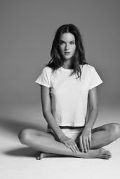 Alessandra Ambrosio Photos - Re/Done Hanes Perfect Tee Campaign 2016