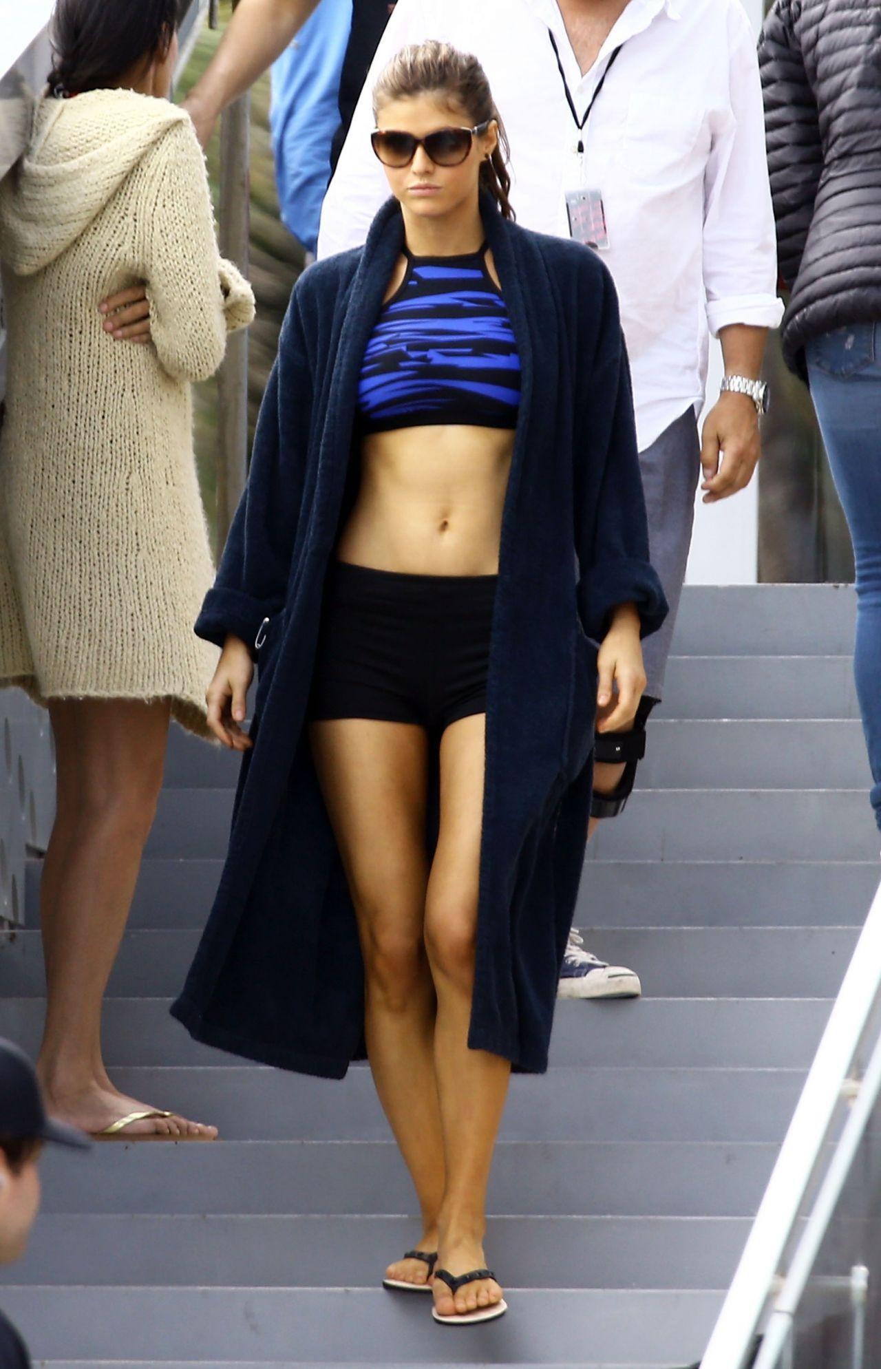 Alexandra Daddario In A Bikini Baywatch Set In Miami