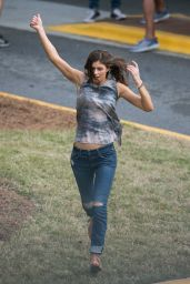 Alexandra Daddario - on the Set of