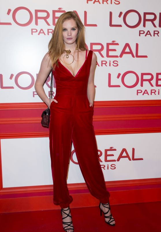 Alexina Graham – L'Oreal Red Obsession Party – Paris Fashion Week 3/8/2016