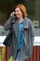 Alyson Hannigan at the DMV in Los Angeles, CA 3/21/2016
