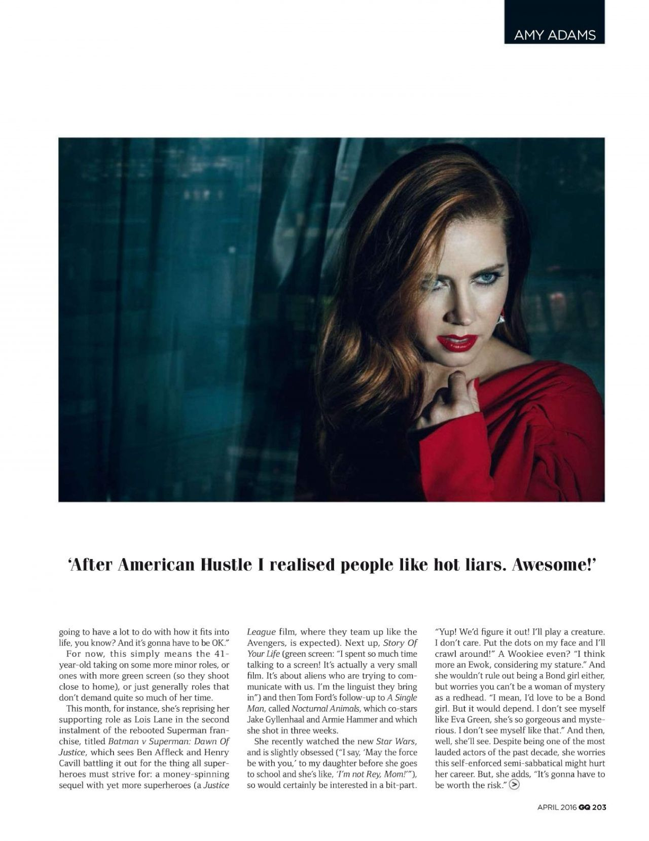 Amy Adams by Norman Jean Roy for GQ UK April 2016 / AvaxHome